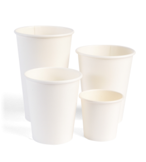Single Wall White Cups