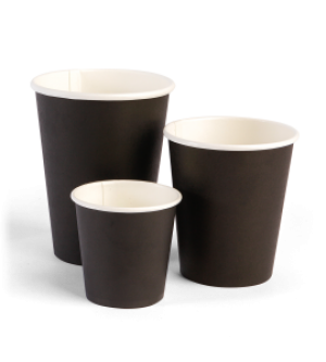 Single Wall Black Cups