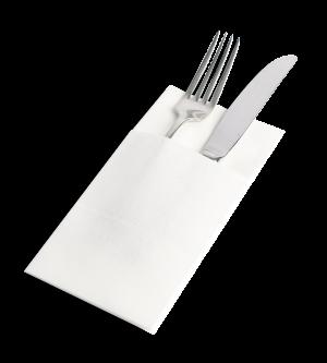 Pocket-Fold Premium Dinner Napkin - White