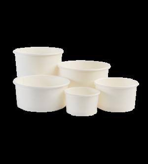 Paper Sundae Cups White