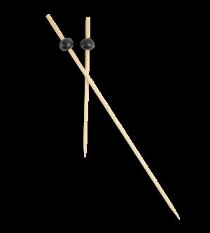 Bamboo Black Bead Picks