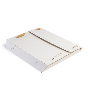 Centre-Fold Pizza Box - White