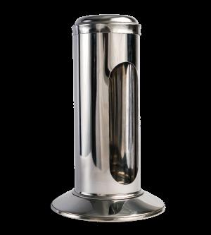 Stainless Steel Straw Dispenser - Side Open