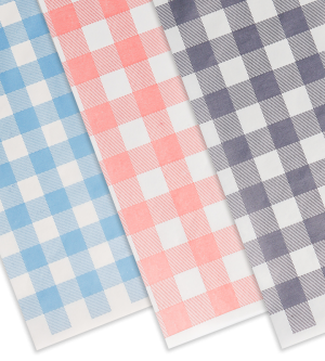 Checked Greaseproof Paper