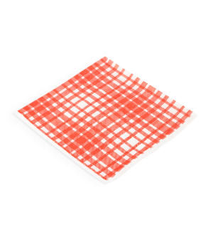 Napkins 1ply Lunch Red Check