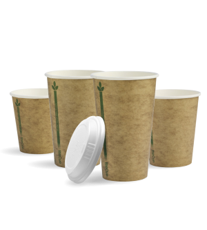 Single Wall Kraft Green BioCup