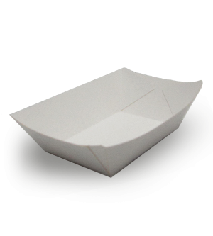 Small Food Sampling Tray - White
