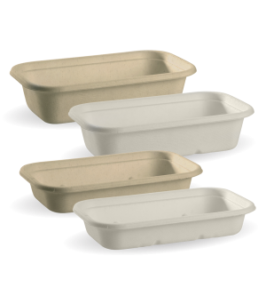 Sugarcane Rectangle Containers with Lids