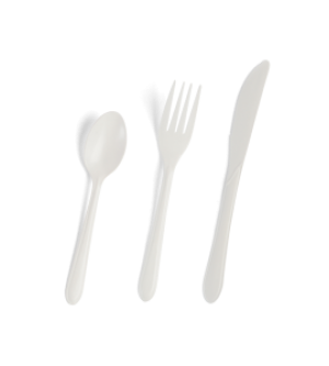 Heavy Duty Plastic Cutlery - White