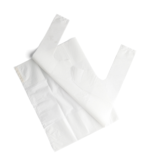 Plastic Carry Bag - White