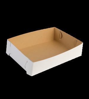 Cake/Food Trays - Brown/White