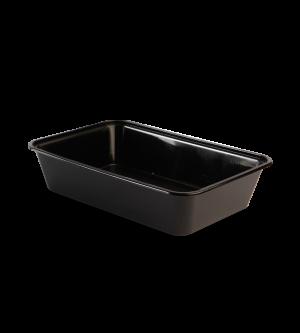 Black Plastic Rectangular Takeaway Container