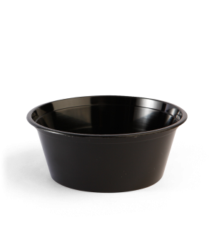 Black Plastic Round Takeaway Containers