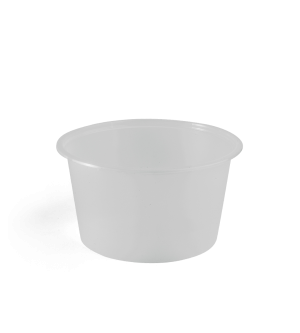 Clear Plastic Freezer Grade Round Container