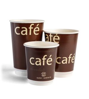 Double Wall Brown Cafe Cup