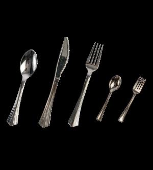 Silver Executive Plastic Cutlery