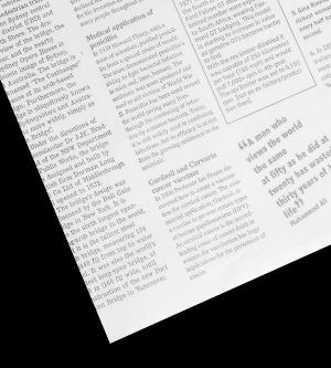 Newsprint Greaseproof Paper