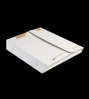 Centre-Fold Pizza Box - White