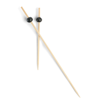 Bamboo Black Bead Picks - 7cm & 12cm