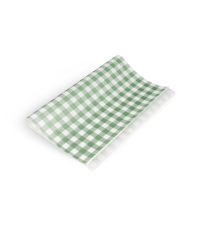 Greaseproof Paper Green Check