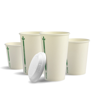 Single Wall White Green BioCup