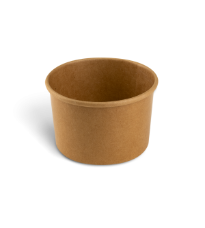 Paper Sundae Cup - Kraft 8oz
