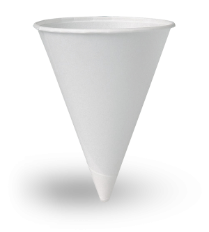 White Paper Cone - 6oz