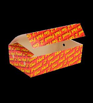 Snack Box Medium Printed Castaway